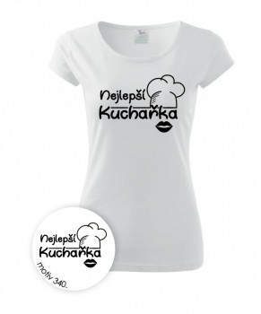 Kokardy.cz Tričko Nejlepší kuchařka 340 bílé - M dámské 9c5f53253e
