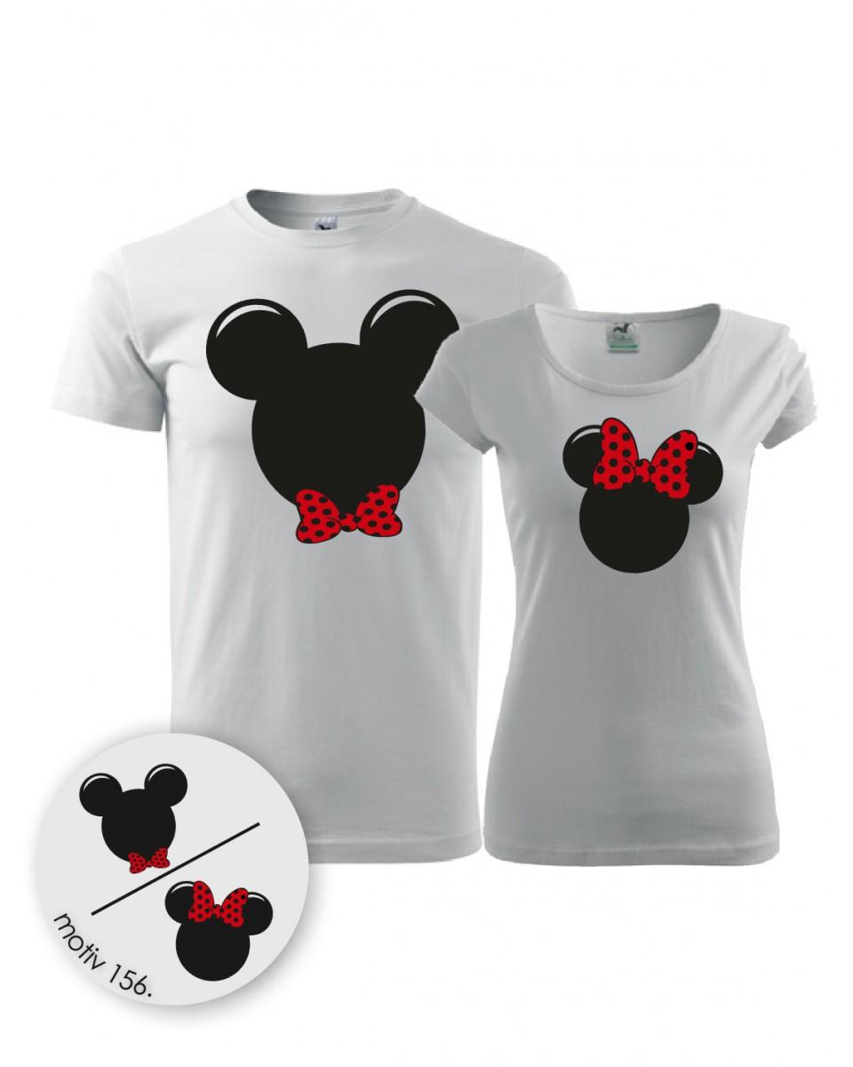Trička pro páry Mickey Mouse 156 bílé  21540a557a