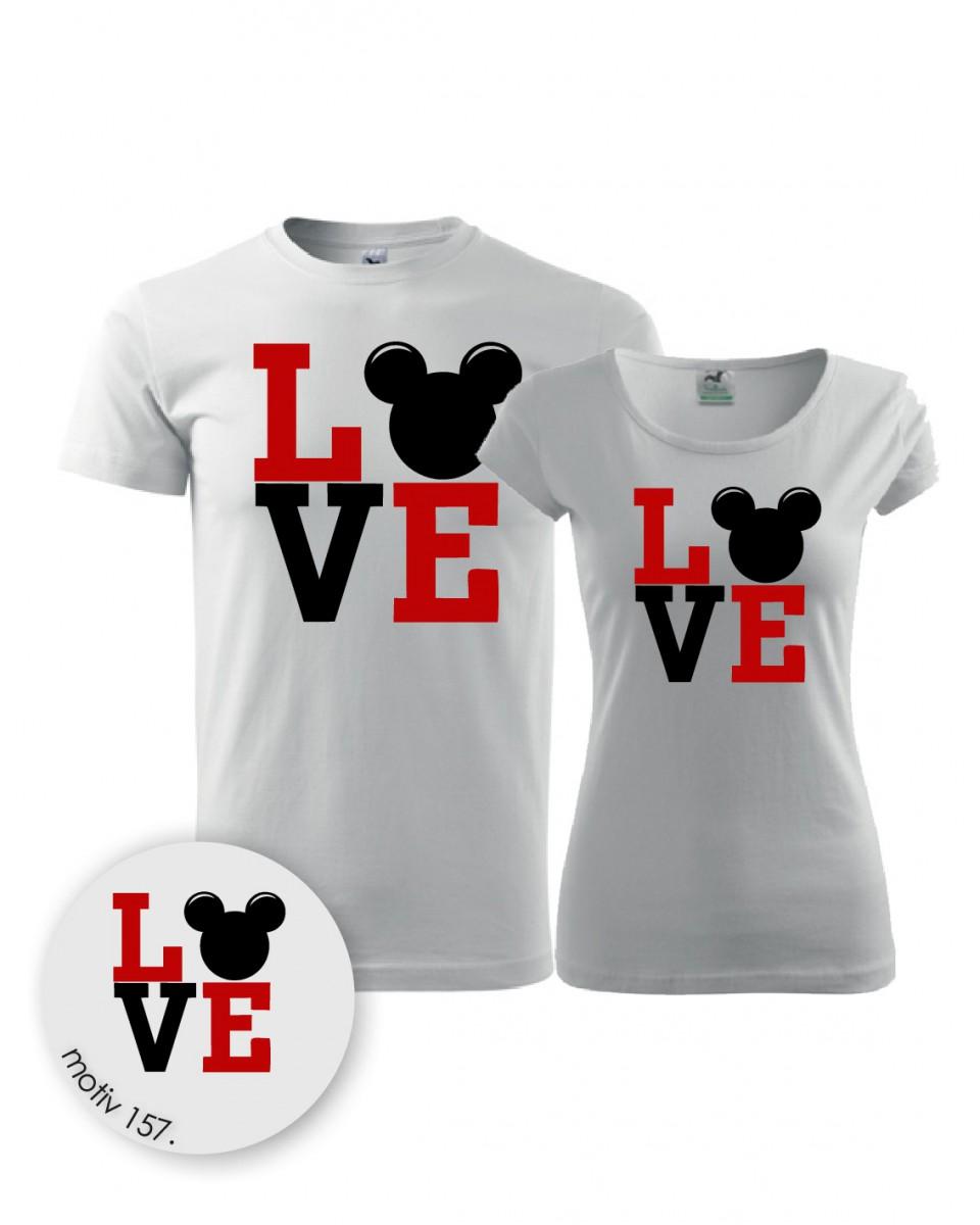Trička pro páry Mickey Mouse 157 bílé  cc35156677